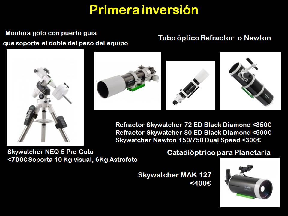 material astrofotografía