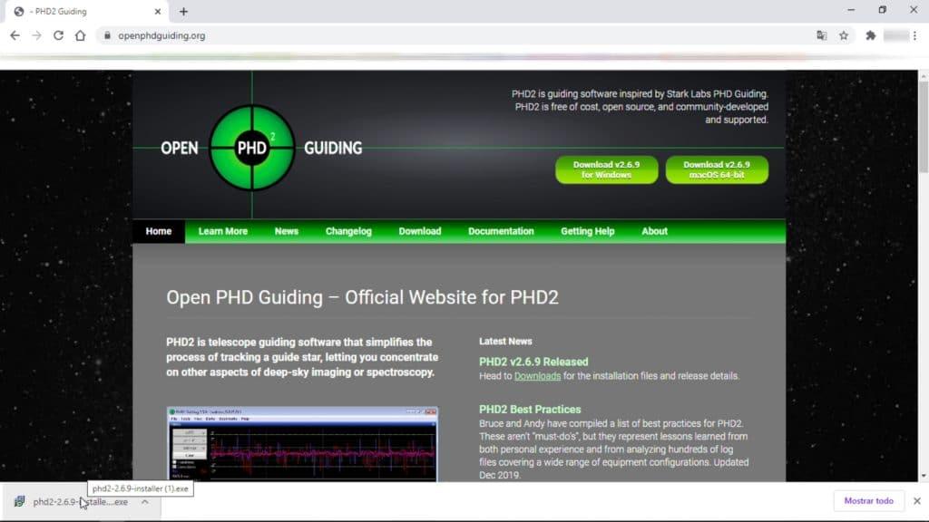 PHD2 guiding