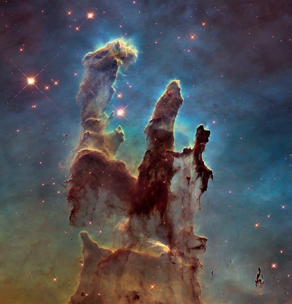pilares de la creación, hubble