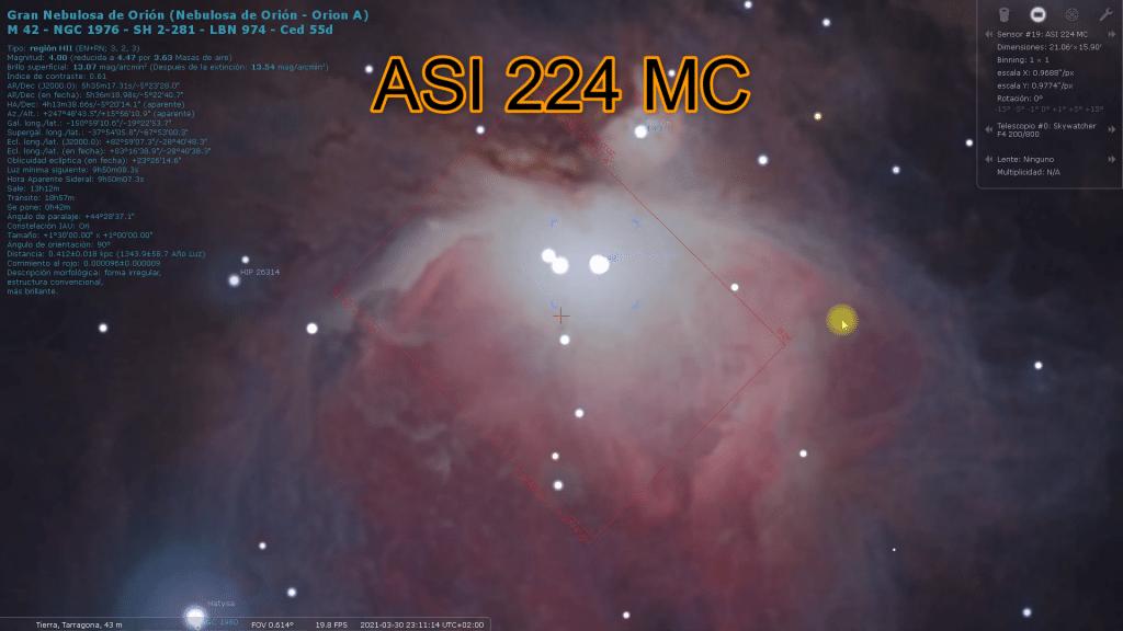 asi 224 mc zwo stellarium