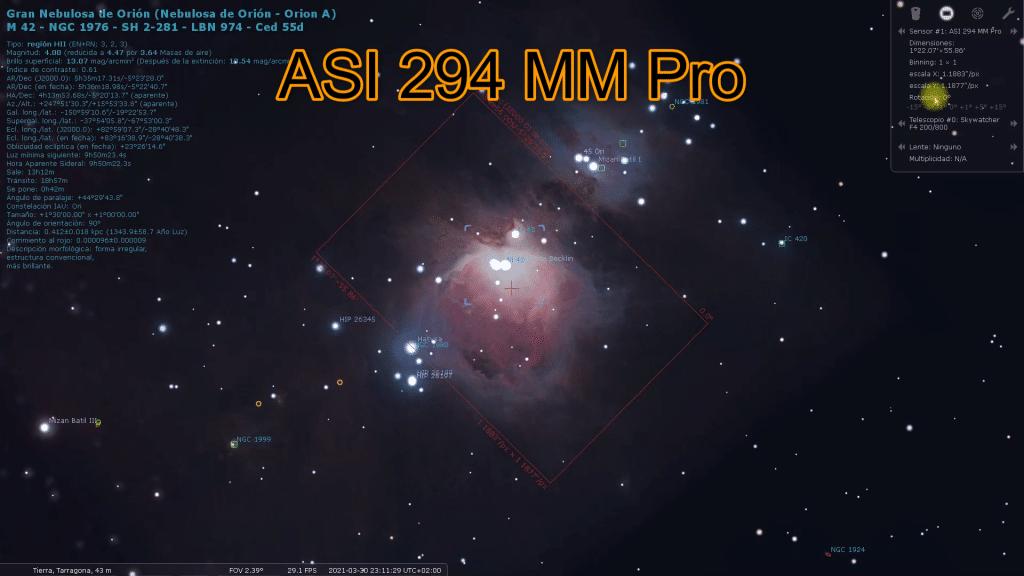 asi 294 mm pro zwo stellarium