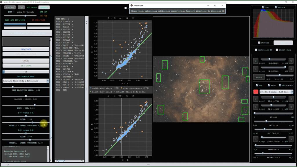herramienta calibrate star colors