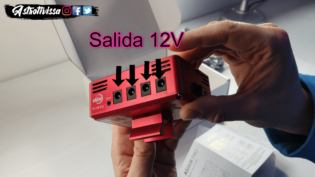 ASIAIR PRO conexiones 12v y dslr